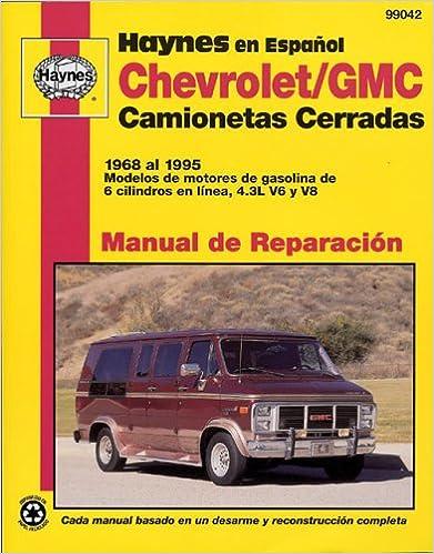 Libros de Epub para descargar gratis Camionetas Cerradas Chevrolet & GMC Manual de Reparacion: Modelos Cubiertos: Camionetas Cerradas Chevrolet y GMC - Con Motor de Gasolina Motor de 6 Ci (Haynes Manuals (Spanish)) in Spanish PDF