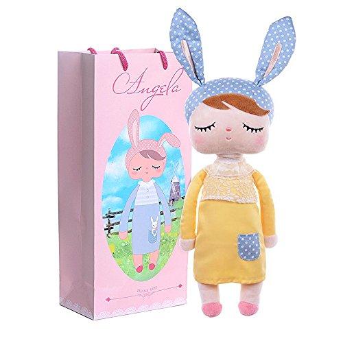 Me Too Angela Stuffed Bunny Baby Plush Rabbit Doll Birthday Christmas Gifts For Girls Kids 13 (Yellow)