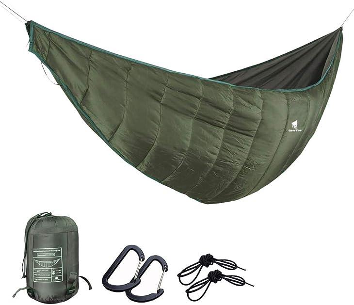 GEERTOP Portable Hammock Quilt Lightweight 3 Seasons Camping Hammock Underquilt