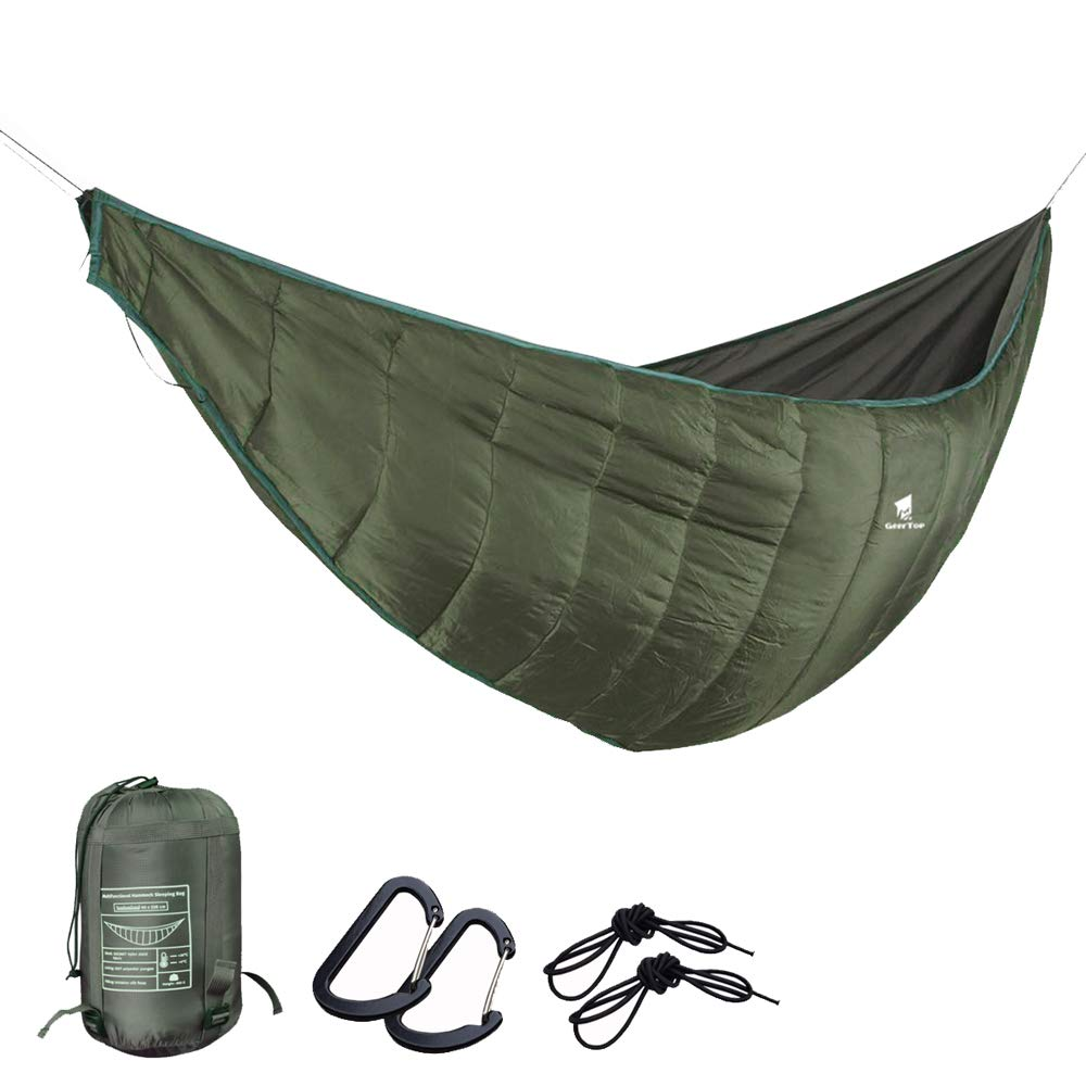 GEERTOP Portable Hammock Quilt Lightweight 3 Seasons Camping Hammock Underquilt Warm Outdoor Sleeping Bag Packable Full Length Under Blanket with Compression Sack for Backpacking Hiking Travel by GEERTOP