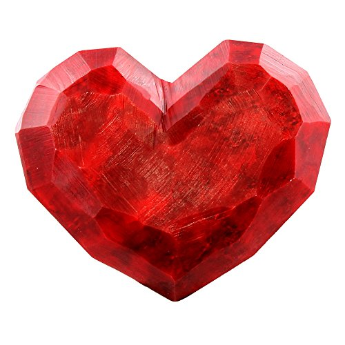 - Faceted Red Soap Stone Heart 5
