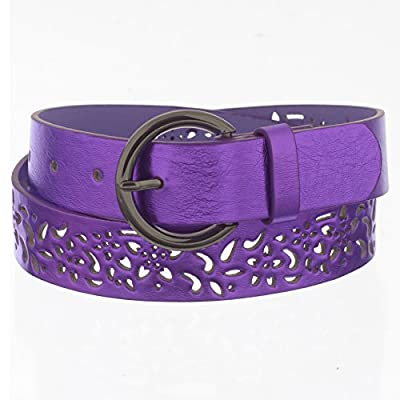 Xcessoire Girls Fashion Belt with Flower Punches