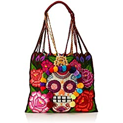 Uttara HB0099 Bolsa de Tela y de Playa, Unisex-Adulto, color Morada Multicolor, Mediano