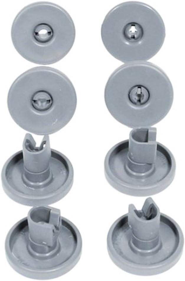 Rueda inferior para cesta de lavavajillas Zanussi de 40 mm y eje de clip 50269757006 (8 unidades)