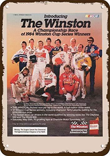 Yilooom 1985 Winston Cup Series Nascar Driver Winners Vintage Look Replica Metal Sign 7