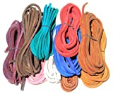 FeetPeople Leather Shoe/Boot Laces (Various Colors & Packs)