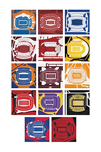 SEC Football Stadium Print, Unframed 24
