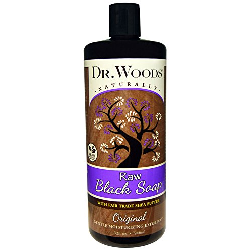 Dr. Woods Shea Vision Pure Black Soap with Organic Shea Butter, 32 Ounce (Packaging may vary)