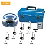 AudioStar OPTIMA - 6 Station Listening Center with USB, CD, Cassette and Radio Boombox