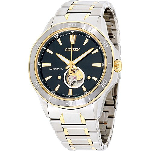 Citizen Men's Signature Mechanical-Hand-Wind Watch with Stainless-Steel Strap, Two Tone, 25 (Model: - Citizen Mens Watch Tone Bracelet Two