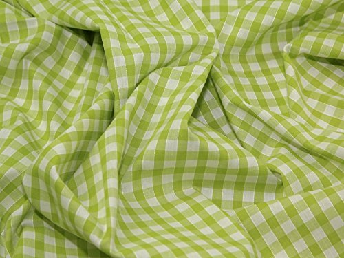 """1/4"""" Check Corded Gingham Dress Fabric Lime Green - for sale  Delivered anywhere in Canada"""