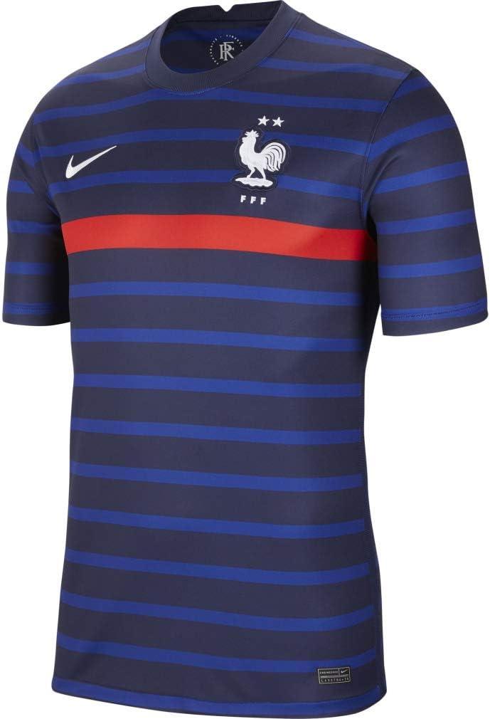 Nike 2020-2021 France Home Football Soccer T-Shirt Jersey