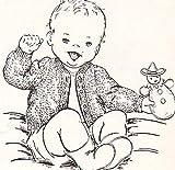 Infant's Crocheted Cardigan Baby Sweater Vintage Crochet Single Pattern