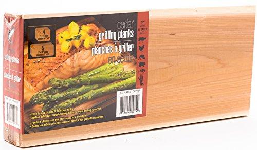 Coastal Cuisine Authentic Cedar Grilling/Barbecue Planks Mega Value Set of 9 (7' x 16' (5 planks) & 7' x 8' (4 Planks))