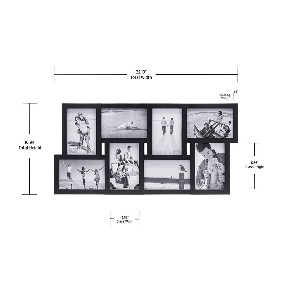 Malden International Designs Portarretratos Plástico de 8 Aberturas ...