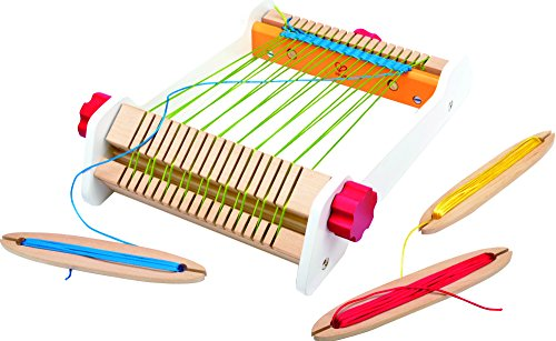 Hape My First Loom Wooden Weaving Toy with Accessories