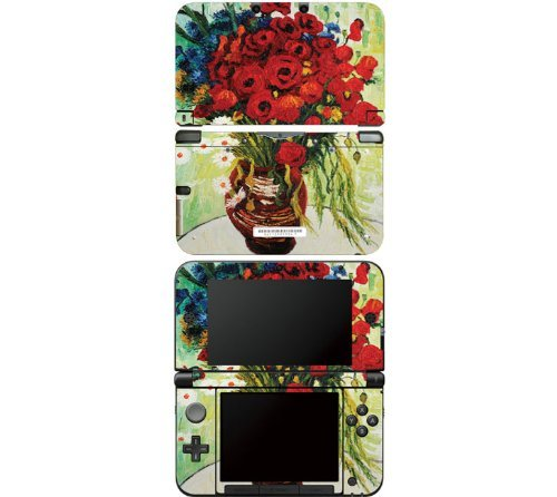 nintendo-3ds-xl-decal-skin-sticker-daisies-and-poppies-by-decalskin
