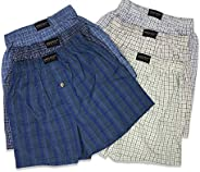 Andrew Scott Boys' 6 Pack Woven Plaid Tartan Boxer - Assorted Plaid Co
