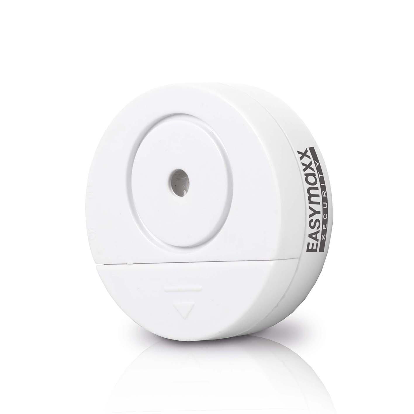 EASYmaxx 00310 Security Alarmanlage Fenster 2er-Set 4,5V weiß mit Erschütterungssensor