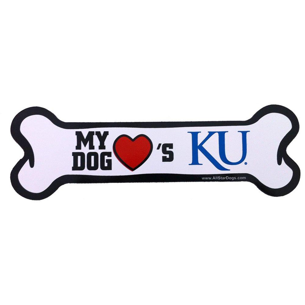 NCAA Kansas Jayhawks Bone Print Car Magnet