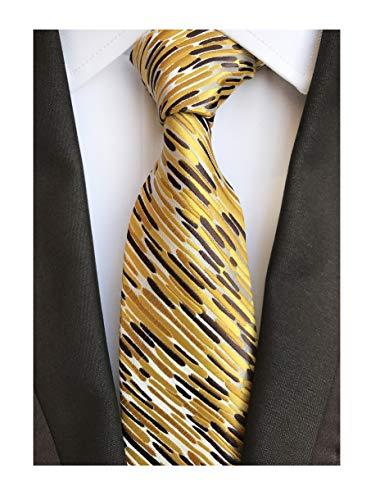 Men's Glod Brown Neckties Silk Tie For Men Suit Fitness Dating Fashion New ()