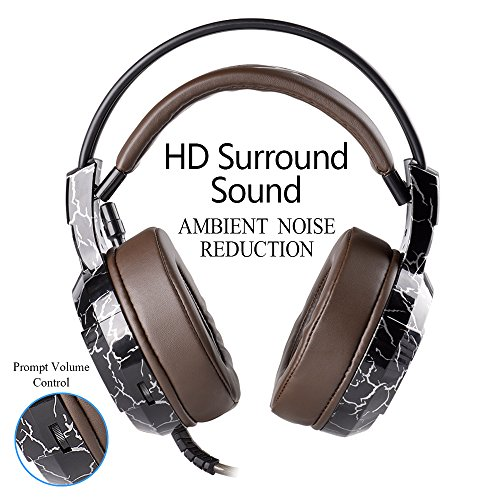 519PYzCpGbL - XIBERIA-Gaming-Headset-with-Microphone-Over-Ear-Wired-Surround-Sound-Computer-Headphones-Volume-Control-Enhanced-Bass-Noise-Canceling-with-LED-Light-for-Playstation-4Laptop-and-PC-Brown