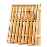 PSI Woodworking LCHSS8 HSS Wood Lathe Chisel Set, 8-Piece