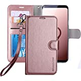Galaxy S9 Plus Wallet Case, Galaxy S9 Plus Case, ERAGLOW Premium PU Leather Wallet Flip Protective Case Cover with Card Slots and KickStand for Samsung Galaxy S9 Plus (Rose Gold)