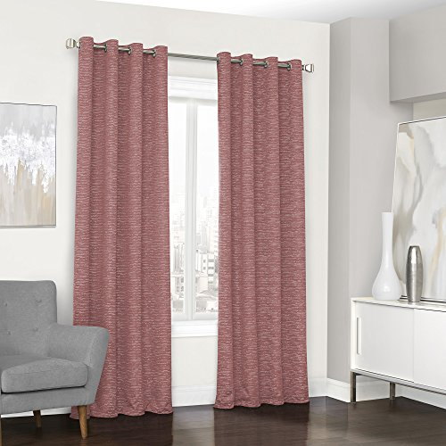 Eclipse Randall Grommet Single Window Curtain Panel, 52″ x 95″, Coral