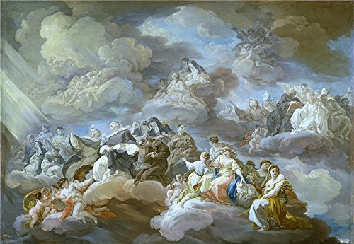 Corrado Carbon (Oil Painting 'Giaquinto Corrado El Paraiso 1755 56', 8 x 12 inch / 20 x 29 cm , on High Definition HD canvas prints is for Gifts And Garage, Hallway And Home Theater Decoration, service)