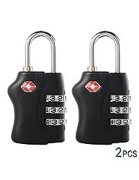 XCSOURCE® 2PCS TSA Security Combination Lock Suitcase Luggage Bag Code Lock Padlock Black HS206