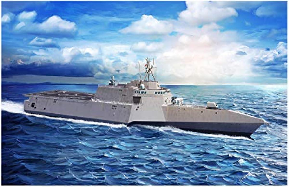 [해외] 사이버 취미 1/700 미국 해군 연해역 전투함 가브리엘기퍼즈 LCS-10 대함순항 미사일NSM부 프라모델  CH7147