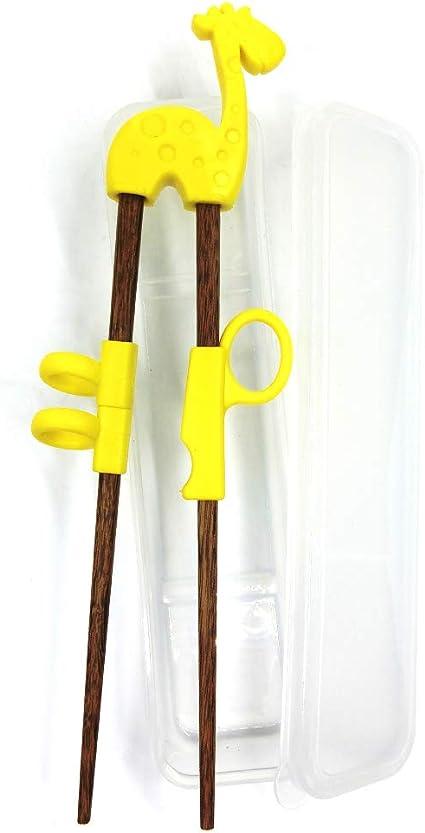 Zerodis Baguettes de Formation pour Enfants Dessin anim/é Mignon Enfants Apprentissage des Baguettes Aide Enfant Formation Baguettes Outil de Vaisselle pour b/éb/é gar/çons Filles d/ébutant Rose