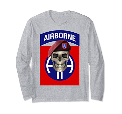 Airborne Long Sleeve T-shirt (Unisex 82nd Airborne - Ft Bragg, NC Long Sleeve T-shirt Medium Heather Grey)