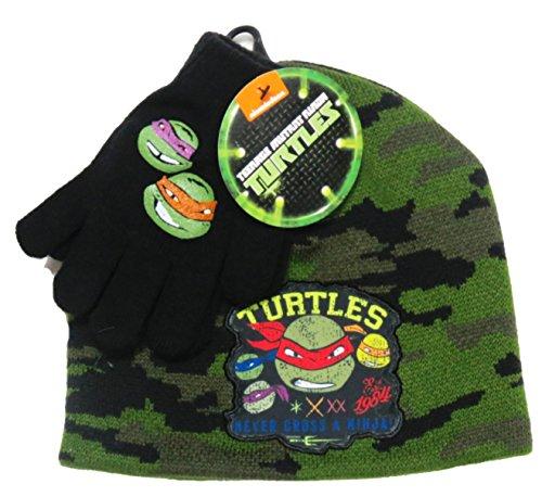 Teenage Mutant Ninja Turtles Knit Hat & (Ninja Turtle Hats And Gloves)