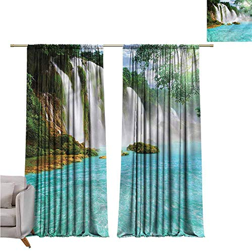 """zojihouse Waterfall Kids Room Blackout Thermal Insulated Curtains, 55""""x62"""""""