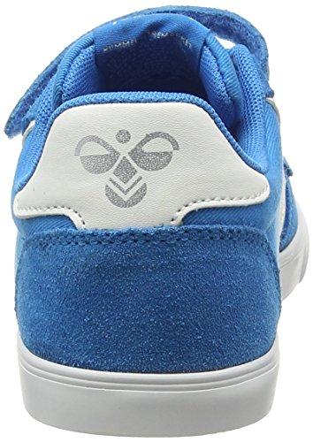 Hummel SLIMMER STADIL CANVAS LO - Zapatillas Unisex Niños Azul - Blau (Methyl Blue 7672)