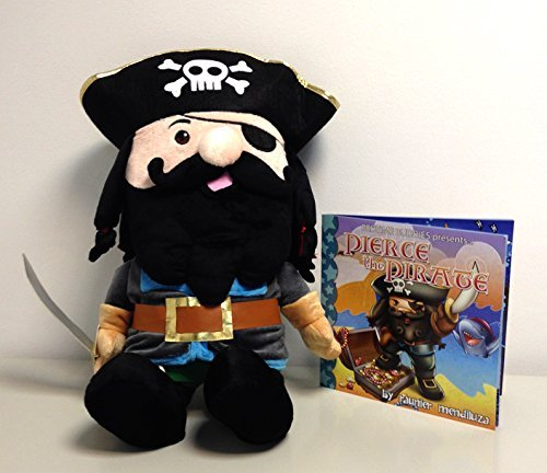 bedtime buddies - pierce the pirate - the stuffed friend that tells a bed time story with the push of a button - great gift for kids of all ages - collect them all -