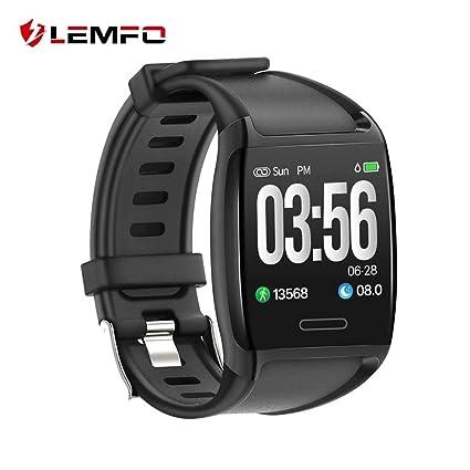 LEMFO V2 inteligente de 1,3 pulgadas pulsera IP67 impermeable rastreador de ejercicios de presión
