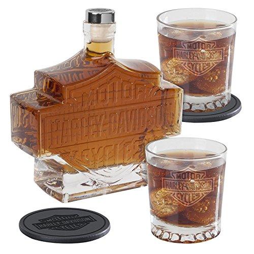 5-pc-harley-davidson-bar-shield-whiskey-decanter-set
