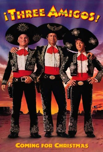 Chase Movie Poster - The Three Amigos POSTER Movie (27 x 40 Inches - 69cm x 102cm) (1986) (Style B)