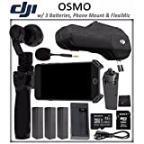 DJI OSMO Starter Bundle: DJI Osmo Handheld 4K Camera and 3-Axis Gimbal + 3 DJI Osmo Intelligent Batteries + DJI Osmo Phone Holder + DJI FlexiMic + SONY 32GB microSD Memory Card