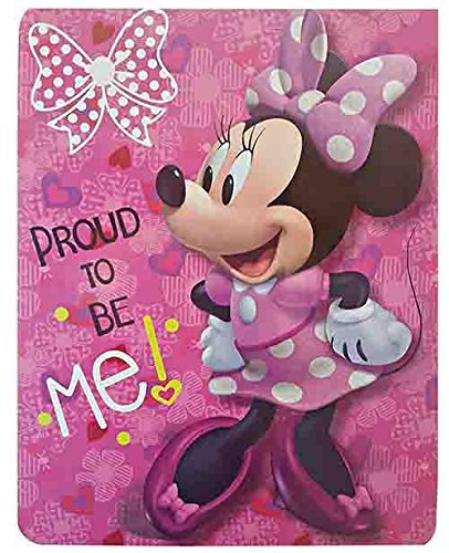 Disney Minnie Mouse Proud to Be Me, Royal Plush Raschel Thro