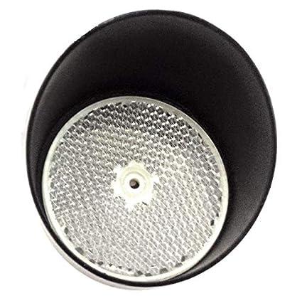Kit espejo circular fotocelula reflexion y visera protector, estandar para cualquier fotocelula de reflexion,