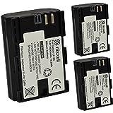 (3 Pack) Ultra High Capacity Nixxell Battery for Canon LP-E6 LC-E6 for Canon EOS 6D 7D Mark II 70D 60D 5D Mark II Mark III & Mark IV 80D 5DS R DSLR Cameras BG-E14 BG-E13 BG-E11 BG-E9 BG-E7 BG-E6