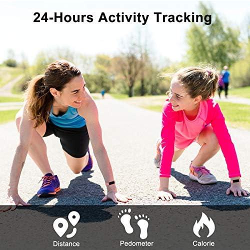 TOOBUR Slim Fitness Tracker Watch, Activity Tracker, Pedometer, Calorie Counter, Sleep Monitor,IP67 Waterproof Step Counter Watch with Wrist Silent Alarm Clock for Kids Girls Boys Teens 2
