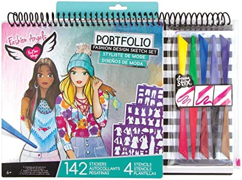 Fashion Angels Fashion Design Sketch Portfolio Artist Set,Multi/None