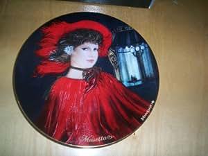 FONTANA DEI MEDICI de porcelana decorativo plato 1986 - OPERA - mujeres PUCCINI de BENVENUTI - MUSETTA