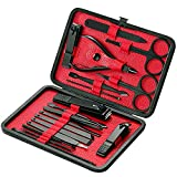 MiLanNuo Details about Men's Manicure Pedicure Set, Travel Case, Pro Nail Grooming Tools, Cutting Nails