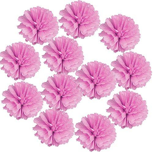 Landisun Exclusive Tissue Paper Flower Poms for Wedding Birthday Room Decoration (14
